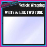 15M X 1524mm VEHICLE CAR VAN WRAP STYLING GRAPHICS WHITE & BLUE TWO TONE